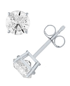 Certified Diamond (1 ct. t.w.) Stud Earrings in 14k White Gold