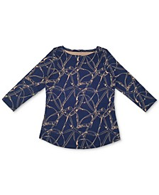 Printed Cotton Top, Created for Macy's