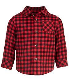 Toddler Boys Check Flannel Shirt, Created for Macy's