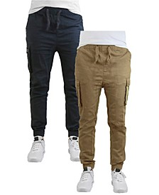 Men's Cotton Stretch Twill Cargo Joggers, Pack of 2