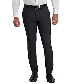Men's Slim-Fit Stretch Subtle Stripe Dress Pants
