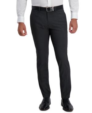 Kenneth Cole Reaction Men's Slim-Fit Stretch Subtle Stripe Dress Pants