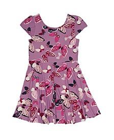 Toddler Girls Short Sleeve All Over Butterfly Print Skater Dress