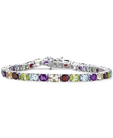 Multi-Gemstone Tennis Bracelet (12-1/4 ct. t.w.) in Sterling Silver