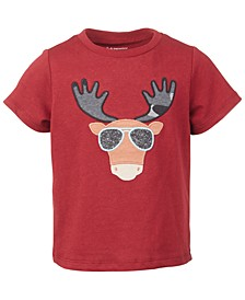 Baby Boys Short Sleeve Cool Moose Tee, Created for Macy's