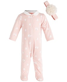 Baby Girls Swan Coverall Set, Created for Macy's