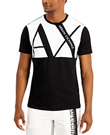 Men's Big AX Colorblocked Logo Graphic T-Shirt, Created for Macy's