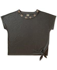 Grommet Tie-Hem Top, Created for Macy's