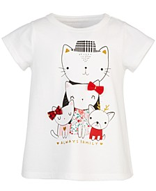 Baby Girls Cat Family Cotton T-Shirt, Created for Macy's