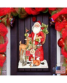 by Susan Winget Woodland Frosty Santa Outdoor Wall and Door Decor