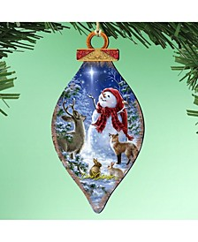 by Dona Gelsinger Heaven and Nature Snowman Ornament, Set of 2