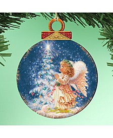 by Dona Gelsinger My-Christmas-Wish Ornament, Set of 2