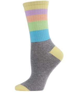 Pastel Stripe Women's Crew Socks