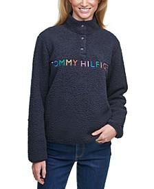 Rainbow Logo Sherpa Sweatshirt