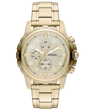 Fossil  MEN'S CHRONOGRAPH DEAN GOLD-TONE STAINLESS STEEL BRACELET WATCH 45MM FS4867