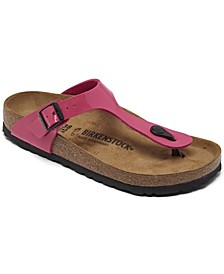 Women's Gizeh Birko-Flor Patent Sandals from Finish Line