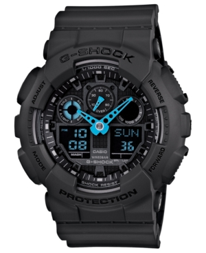 G-Shock Men's Analog-Digital Dark Gray Resin Strap Watch 51x55mm GA100C-8A