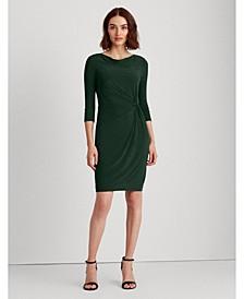 Twisted-Knot Jersey Dress