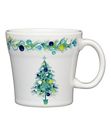 Blue Christmas Tree Tapered Mug, 15 OZ.