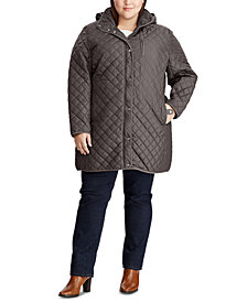 Lauren Ralph Lauren Plus-Size Quilted Hooded Jacket, Created for Macy's