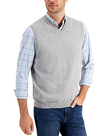 Men's V-Neck Sweater Vest, Created for Macy's