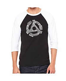 Record Adapter Men's Raglan Word Art T-shirt