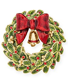 Gold-Tone Glass Stone Wreath Pin, Created for Macy's