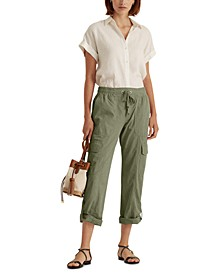 Rolled-cuff Cargo Pants