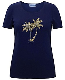 Cotton Embellished T-Shirt, Created for Macy's