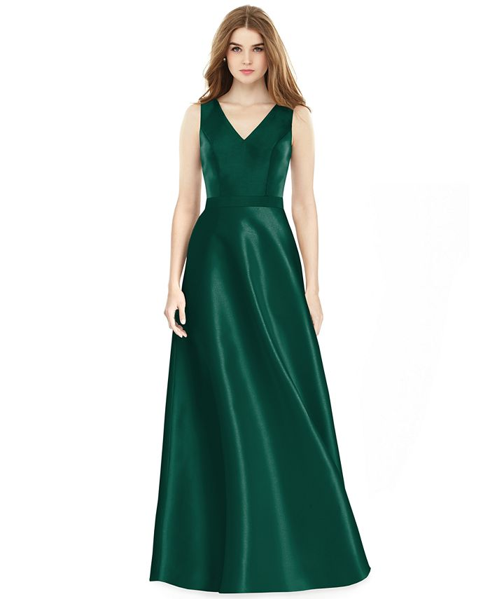 Alfred Sung - Satin A-Line Gown