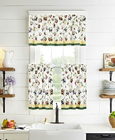 French Garden Tier Curtain and Valance Collection