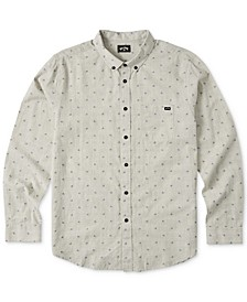 Men's Jacquard Button-Down Shirt
