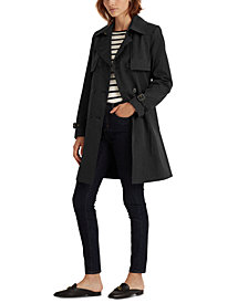 Lauren Ralph Lauren Double-Collar Double-Breasted Trench Coat