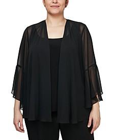 Plus Size 3/4-Sleeve Jacket