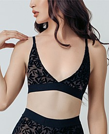 Women's Embroidered Tall Triangle Bralette