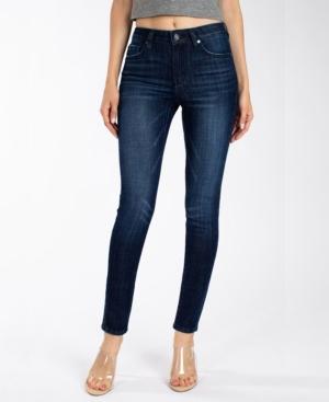 Kancan Women's Mid Rise Basic Super Skinny Jeans