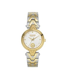 Women's Forlanni Gold and Silver Tone Stainless Steel Bracelet Watch 30mm