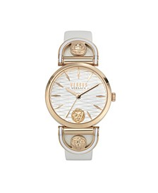 Women's Iseo White Leather Strap Watch 36mm