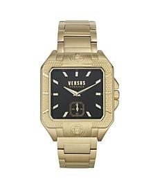 Men's Teatro Gold Tone Stainless Steel Bracelet Watch 49mm