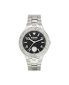 Women's Vittoria Silver Tone Stainless Steel Bracelet Watch 38mm