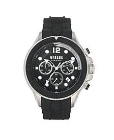 Men's Volta Black Silicone Strap Watch 49mm