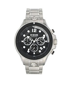 Men's Volta Silver Tone Stainless Steel Bracelet Watch 49mm