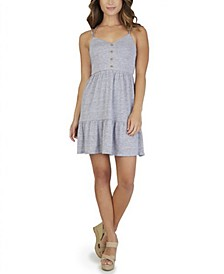 Juniors' Ruffle-Hem A-Line Dress