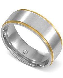 INC Men's Two-Tone Beveled Band, Created for Macy's
