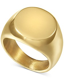 INC Men's Gold-Tone Signet Ring, Created for Macy's