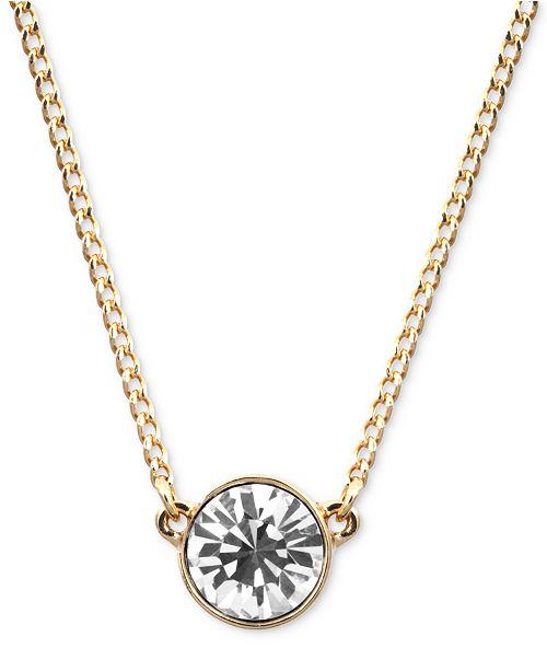 6801c92f1 Givenchy Necklace, Swarovski Element Pendant, 16