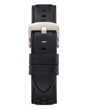 Men's Black Genuine Leather Strap