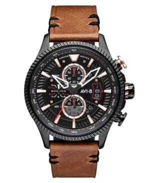 Men's Hawker Hunter Dark Brown Genuine Leather Strap Watch