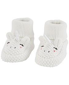 Baby Girl Unicorn Booties