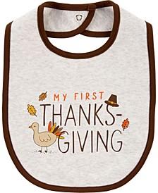 Baby Boy or Girl  Thanksgiving Teething Bib